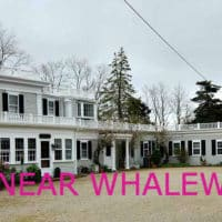 A wide shot of Whalewalk Inn with the title: Dining Near Whalewalk Inn.