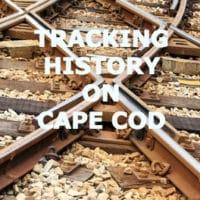 Close up photo of railroad tracks.